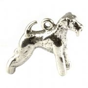 Airedale Terrier Dog 3D Sterling Silver Charm